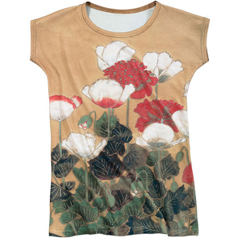 Japanese Poppies Slim Fit Tee (x-large)
