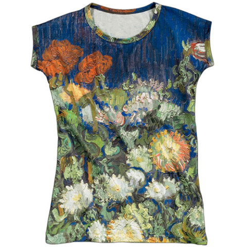 Van Gogh Bouquet of Flowers Slim Fit Tee (x-large)