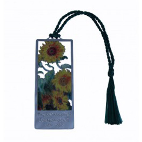 Monet Sunflowers Bookmark