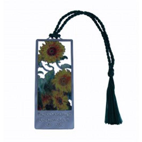 Monet Sunflowers Bookmark