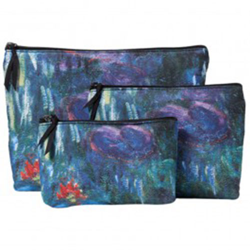Monet Water Lilies Cosmetic Cases (set of 3)
