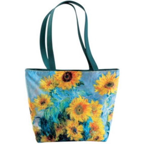 Monet Sunflowers Reversible Tote