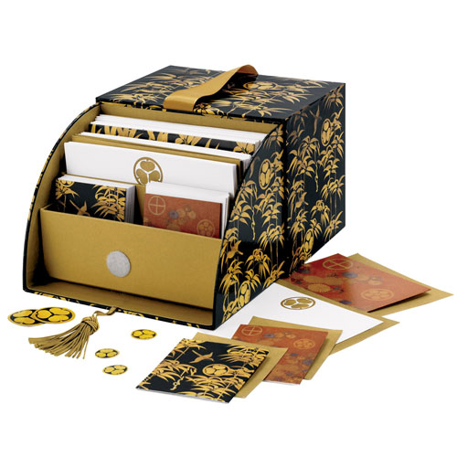 Japanese Lacquer Deluxe Notecard Box