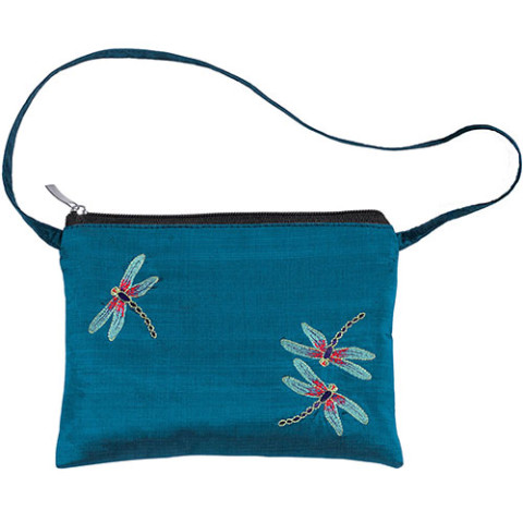 Louis Comfort Tiffany Dragonfly Embroidered Crossbody Bag