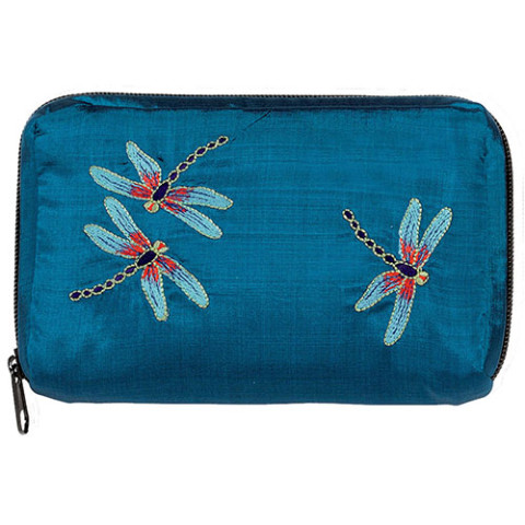 Louis Comfort Tiffany Dragonfly Embroidered Zip-Around Case