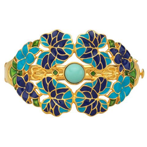 Art Nouveau Floral Cuff