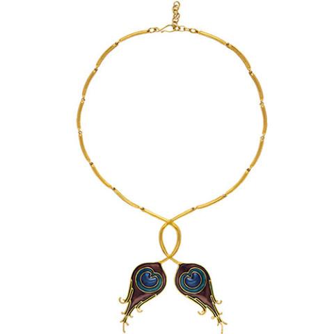 Parisian Peacock Feather Necklace