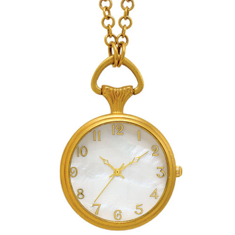 Jeweled Locket Watch