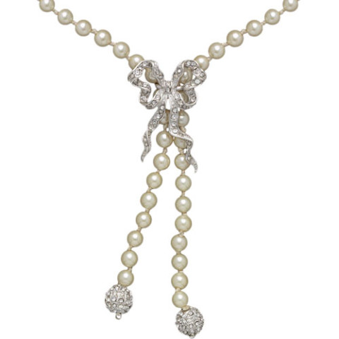 Belle Époque Bow and Pearl Lariat