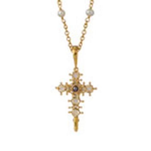Italian Reliquary Cross Pendant