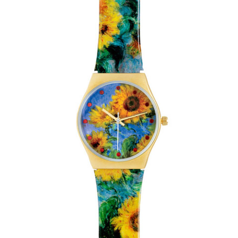 Monet Sunflowers Watch