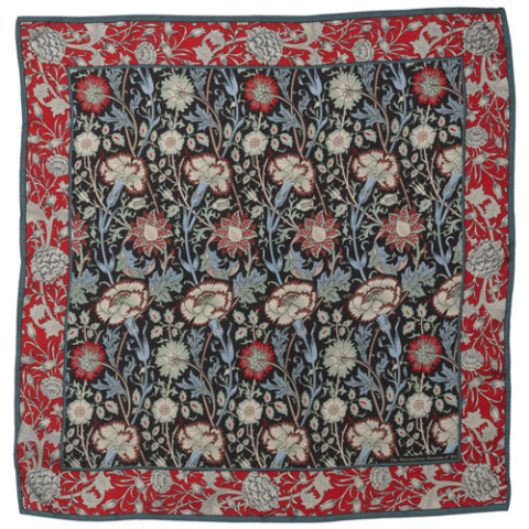 William Morris Pink and Rose Neckerchief
