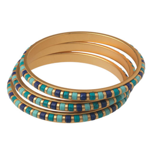 Middle Kingdom Cylindrical Bead Bangles (set of 3)
