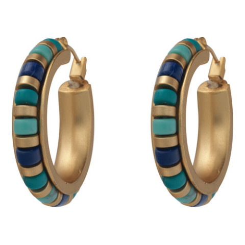 Middle Kingdom Cylindrical Bead Earrings