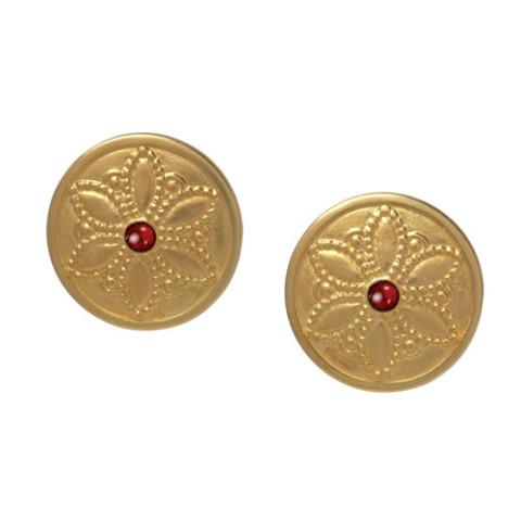 Javanese Lotus Earrings (post)