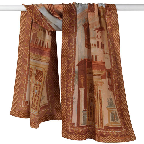 Boscoreale Wall Painting Oblong Scarf