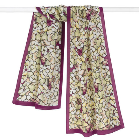 Louis Comfort Tiffany Magnolia Blossoms Oblong Scarf
