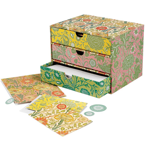 William Morris drawer-style notecard box