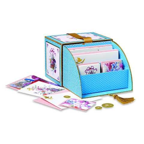 French Secretaire roll-top notecard box
