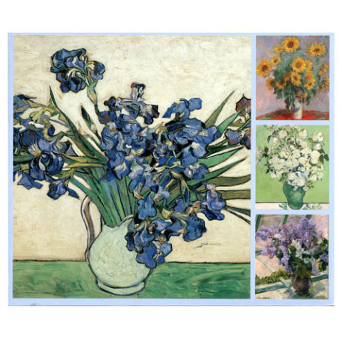 Impressionist Flowers  notecard box