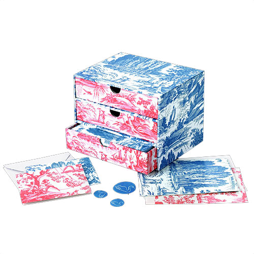 Toile drawer-style  notecard box