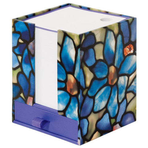 NOTECUBE WITH DRAWER: LCT CLEMATIS
