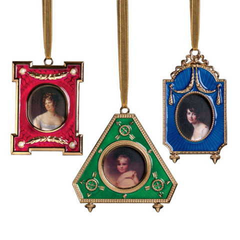 Russian Imperial Frame Ornaments: Set of 3