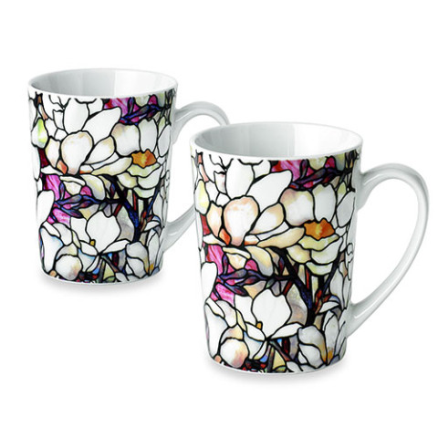 Louis Comfort Tiffany Magnolia Mugs (set of 2)