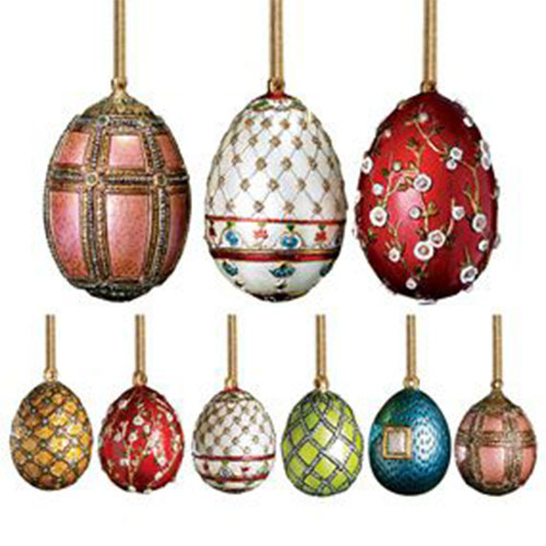 russian imperial mini egg ornaments set of 6
