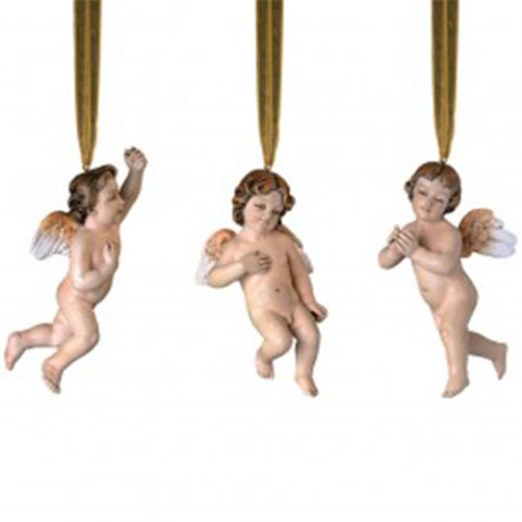 Neapolitan Cherub Ornaments (set of 3)