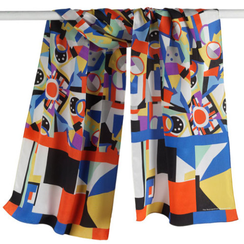 Sonia Delaunay Abstract Oblong Scarf