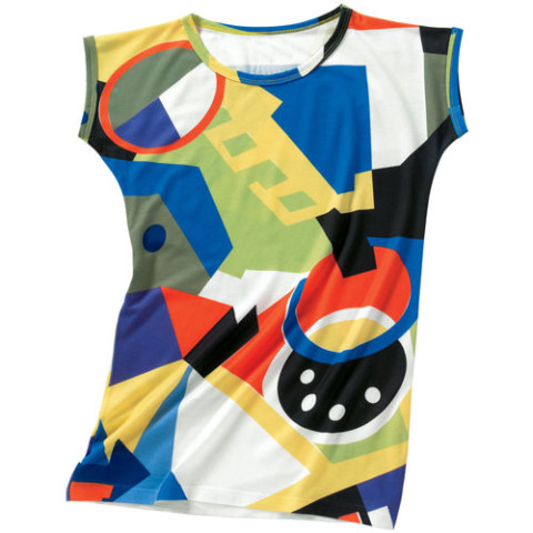Sonia Delaunay Abstract Slim Fit Top (x-large)