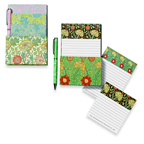 William Morris 3 Notepad Set: Pink and Rose