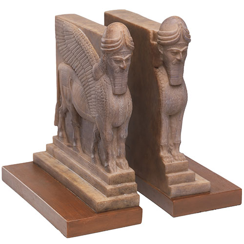 Assyrian Palace Guard Bookends (set of 2)