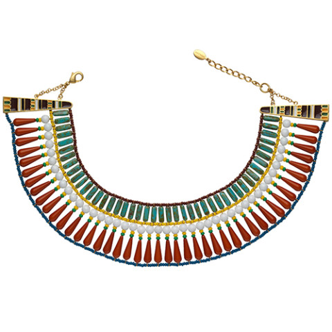 Egyptian Broad Collar Beaded Necklace