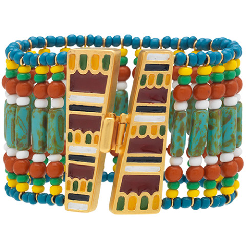 Egyptian Broad Collar Beaded Bracelet