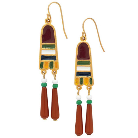 Egyptian Broad Collar Beaded Earrings