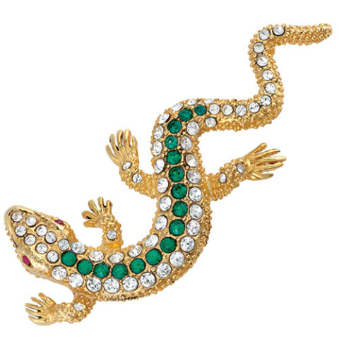 Parisian Jeweled Lizard Pin