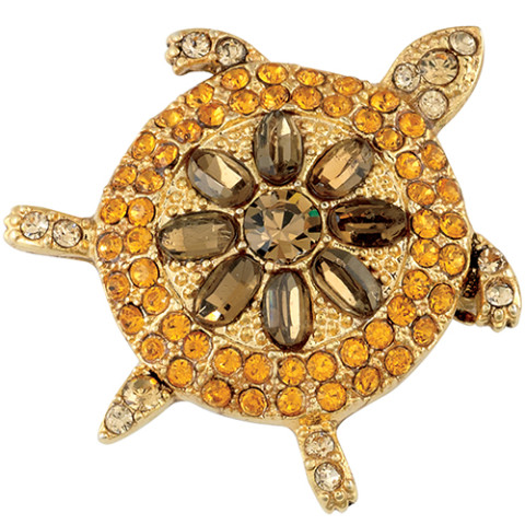 Parisian Jeweled Turtle Pin