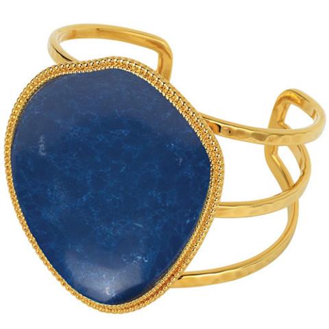 Tibetan Pendant Cuff (lapis)