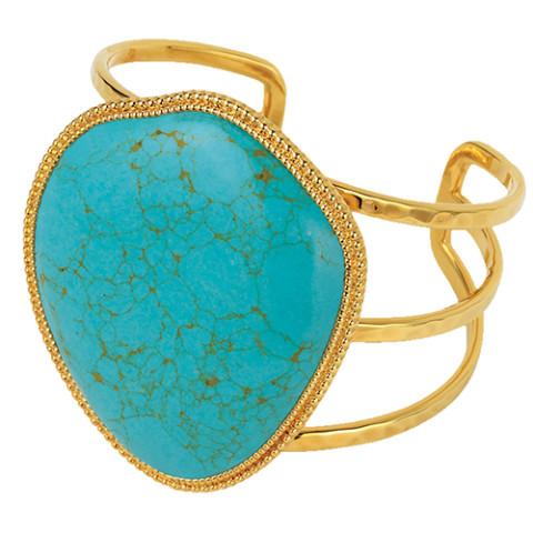 Tibetan Pendant Cuff (turquoise)