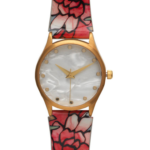 Pink Peonies Watch