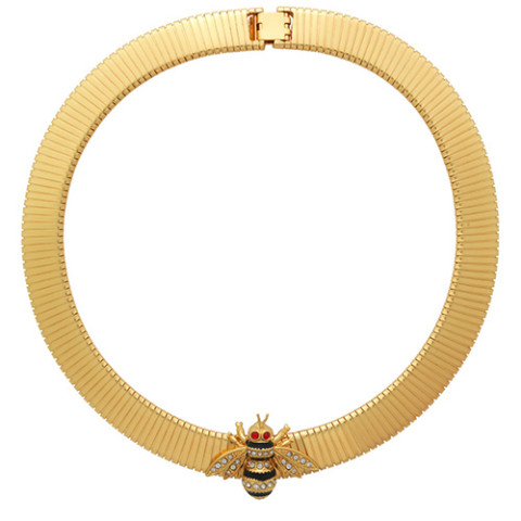 Russian Imperial Slider Necklace with Bee Pendant