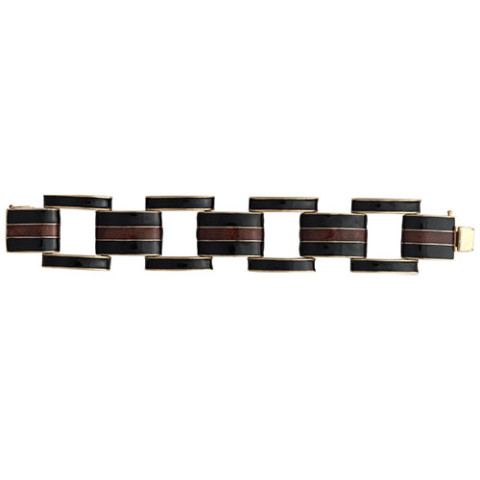 Ciner Collection: Black and Topaz Link Bracelet