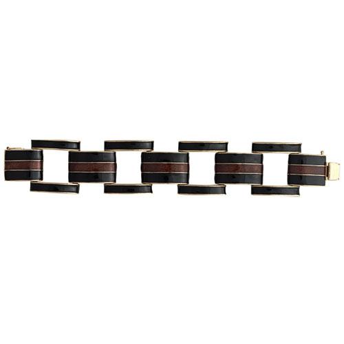 Ciner Collection: Black and Topaz Link Bracelet