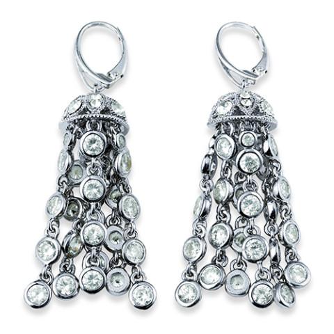 American Heiress Button Earrings