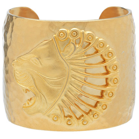 Persian Lion's Head Cuff