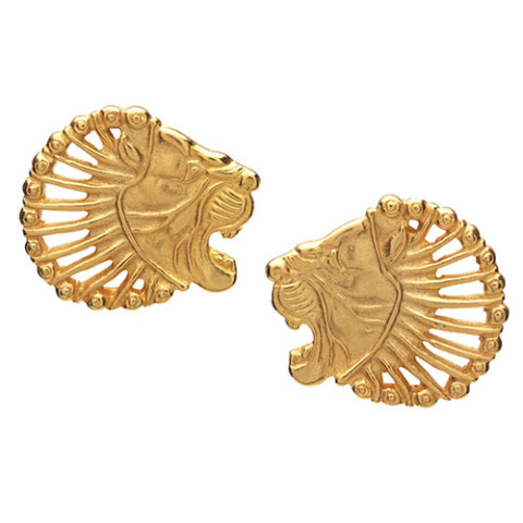 Persian Lion's Head Earrings