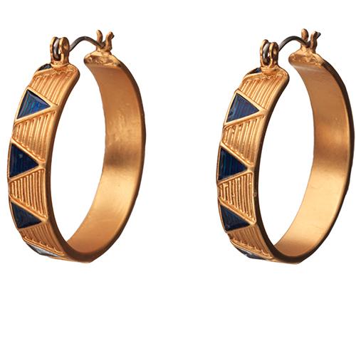 Sumerian Royal Hoop Earrings