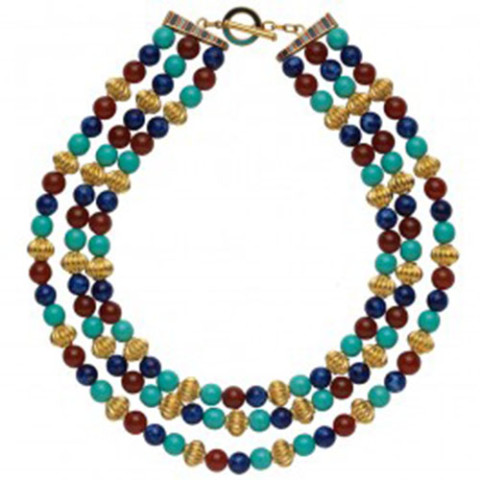 Thutmose III Triple-Strand Bead Necklace